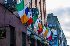 Algunas banderas (_samush) Tags: street trip travel viaje ireland urban dublin color contrast calle europa europe flag capital flags bandera contraste banderas irlanda utbano