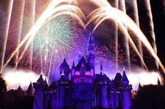 Disneyland Forever 24 (RavenWolf412) Tags: california blue color castle night canon photography fireworks disneyland disney fantasyland sleepingbeautycastle disneylandforever