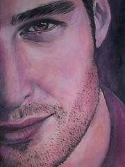 Modello in rosa (Artlynow galleria d'arte) Tags: quadro ritratto artista pittura dipinto modello quadroolio mauriziodesanti