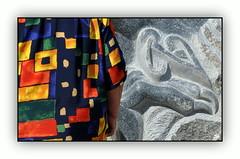 Contraste (au35) Tags: sculpture couleurs contraste bressuire couleursvives symposiumdesculpturedebressuire