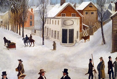 Francis Guy, Winter Scene in Brooklyn (detail), 1820