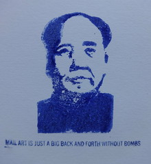 Mail Art Rubber Stamp (ART NAHPRO) Tags: rubber stamp mao mailartisjustabigbackandforthwithoutbombs