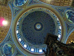 St. Peter`s Dome (Heaven`s Gate (John)) Tags: italy pope rome art architecture catholic cathedral roman interior basilica religion perspective ceiling dome 10faves johndalkin heavensgatejohn stperes