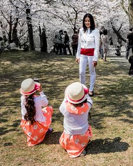 young photographers (-liyen-) Tags: park toronto ontario canada kids happy spring highpark posing sunny shoottheshooter cheryblossoms matchpointwinner fujixt1 mpt495