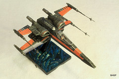 IMG_2124 (harrison-green) Tags: film movie star model fighter force space wing x xwing spaceship wars poe 172 bandai t70 awakens dameron incom