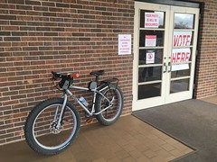 Super Tuesday (The Goat Whisperer) Tags: bike bicycle fat politics pug super tuesday vote pugsley surly ops fatbike