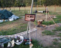 Video security (Jennifer Lea) Tags: signs handwriting video surveillance bricks australia victoria land flowerdale