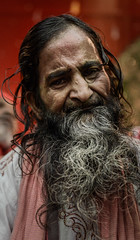 Wise Beards Grown on Barren Minds (arnabjosephite) Tags: portrait man beard oldman dhaka bangladesh