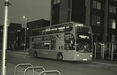 NX Coventry 4774 - Cox Street, Coventry (paulburr73) Tags: evening blackwhite nightshot nighttime coventry westmidlands doubledecker nationalexpress nightportrait nxc warwickuniversity adl coventryuniversity newlivery 4774 alexanderdennis trident2 coxstreet enviro400 nikond3300 nxwm bv57xku