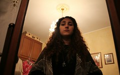 (Samantha M. C-) Tags: portrait me hair mirror longhair luggage curly inside suitcase curlyhair longer