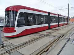TTC 4411 Flexity Outlook LRV By Bombardier Built 2015 LRV Eastbound On Queens Quay W ROW Route 509 (drum118) Tags: tram streetcar trolleycar lightrailvehicle torontophoto route510 bombardierflexityoutlook transitttc ontariophoto ttcstreetcarfleet onqueensquaywrow ttcflexityoutlookfleet built2015 ttc4411flexityoutlooklrv lrvwestbound
