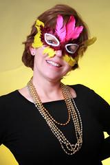 Playing with my new monoligths in studio on Fat Tuesday # studio #portraits #mask #umbrella #sorting #fun #gels (cliffordhwatson) Tags: umbrella portraits fun mask gels sorting