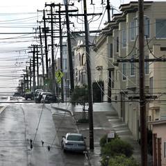 Richmond district, San Francisco (Dave Glass . foto) Tags: sanfrancisco powerlines 23rdavenue infrastructure powergrid electricitylines richmonddistrict balboastreet powerpoles centralrichmond