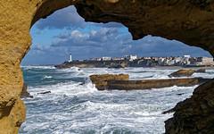 Phare de Biarritz (Phil_Btz) Tags: ocean sea sky mer clouds waves ciel nuages vagues biarritz océan