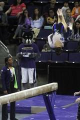Alex Yacalis beam (2) (Susaluda) Tags: uw sports gold washington university purple huskies gymnastics dawgs