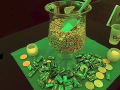 Nothing Says St. Patrick's Day Like a Bowl Full of Lucky Charms Cereal. (Lynn Friedman) Tags: party greenlight snacks sanluisobispo luckycharms viptent lynnfriedman sloiff