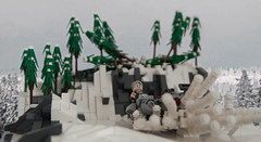 STAR WARS Episode VII - Out of the forest (Boba-1980) Tags: snow star lego 7 millennium solo falcon wars base episode han vii ids moc falke microfighter starkiller microfighters