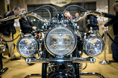 MCN London Motorcycle Show 2016 - classic Indian Chief motorcycle (Sacha Alleyne) Tags: show london vintage motorbike moto motorcycle headlight excel 2016 mcn motorcyclenews carolenash a6000 mcnmotorcycleshow sonya6000