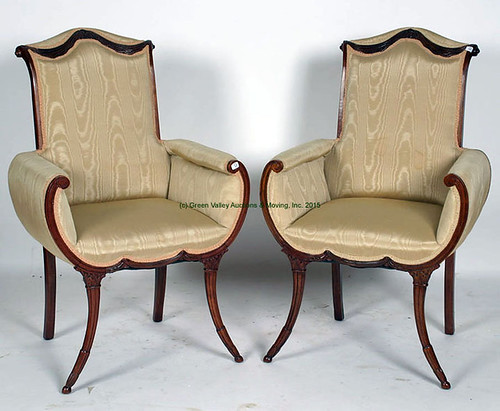 Pair of French Ornate Chairs - $302.50 (Sold June 5, 2015)