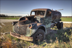 1946 Chevrolet 1.5 Ton Tanker-Sprayer Truck - Door County, Wisconsin (helikesto-rec) Tags: chevrolet abandoned wisconsin truck chevy doorcounty 1946