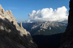 Landscape from discent of Torri del Vajolet (ClaudioMio_) Tags: italy mountain landscape nikon italia nikkor montagna trentino dolomiti bolzano altoadige 2015 catinaccio trentinoaltoadige 1685mm nikkor1685mm d5100 nikond5100