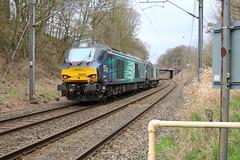 DRS 68002 - 68004 @ Red Bull - Kidsgrove (uksean13) Tags: light train canon diesel rail railway redbull drs ef28135mmf3556isusm kidsgrove 68002 68004 760d