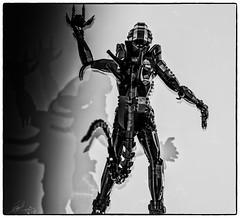 Alien designed by Arvo Brothers (juancarlos_duende73) Tags: blancoynegro blackwhite lego brothers alien arvo hgiger fujifilmxe2 fujinon56mmf12