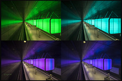 different colors (hph46) Tags: station collage germany underground deutschland sony ngc hamburg ubahn beleuchtung farben hafencity alpha7r