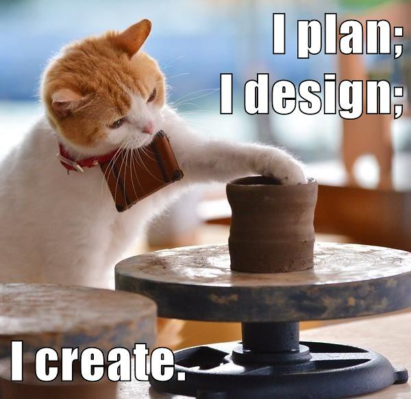 I plan I design I create