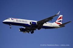 British Airways ERJ190 ~ G-LCYK ( Freddie) Tags: london londoncityairport newham e16 lcy royaldocks eglc runway27