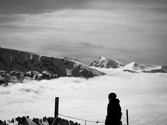 The man and the clouds (vincentlh) Tags: cloud mountain ski chamrousse