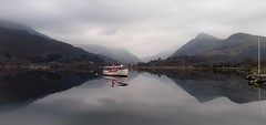 Still water of padarn lake.