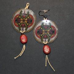 attrape reve (fabrikarine) Tags: fleur vintage collier bijoux plastic boucle fou cuivre doreille