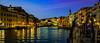 Rialto Bridge (Pino Snorr) Tags: city italien bridge blue venice sunset sky italy house rialtobridge water night italia outdoor venezia venedig canale gondoler veneto canalgrande ilovepizza pontedirialto grandcanale abigfave