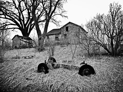 on the down side... (BillsExplorations) Tags: trees blackandwhite abandoned monochrome decay farm down forgotten abandonedhouse lone discarded ruraldecay farmmachinery abandonedfarm abandonedillinois lonetreecorners