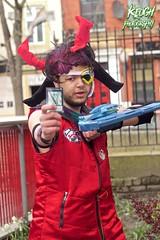 IMG_8847 (Neil Keogh Photography) Tags: blue red white black male hat silver soldier gun purple pants mask horns jacket card hero sword visor 2016 bodywarmer cosplaycosplayer nwcosplayeastermeet