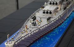USS OGEL on patrol at Brick-a-laide 2016 (Lazy Meerkats) Tags: alaska lego military navy battleship uss 2016 battlecruiser brickalaide