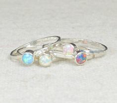 Grab 4 - Small Opal (alaridesign) Tags: by october small 4 jewelry ring mothers rings stacking grab opal birthstone alaridesign