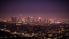 Downtown - Los Angeles, United States - Cityscape photography (Giuseppe Milo (www.pixael.com)) Tags: california city sunset sky urban usa sun architecture night buildings landscape geotagged photography lights us photo losangeles downtown cityscape fuji unitedstates landmark observatory fujifilm griffith onsale skyscapers fujix xt10 fujixt10