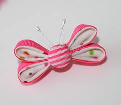 Kanzashi Butterfly Ribbon Sculpture (MadsBelly) Tags: butterfly butterflies tutorial tsumami kanzashi