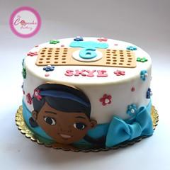 Doc Mcstuffins (The Cupcake Factory Barbados) Tags: girl cake mc doc fondant stuffins