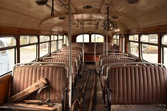 Bus (stephen trinder) Tags: old windows newzealand christchurch bus buses landscape interior transport perspective rusty passengers seats nz kiwi retired derelict aotearoa ferrymead christchurchnewzealand stephentrinder stephentrinderphotography