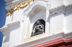 Buddha in Stupa (Jgunns91) Tags: travel nepal travelling religious temple nikon asia peace buddhism wanderlust explore discover natgeo swayumbhunath