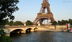 Pont d'Iena to the base of the Eiffel Tower (eutouring) Tags: bridge paris france tower eiffeltower eiffel pontdiena pontiena