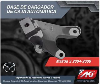 base de cargador mazda 3 2004 2009 caja automatica