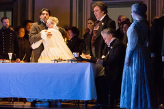 Charles Castronovo, Diana Damrau, Ludovic Tézier, Kwangchul Youn in Katie Mitchell's Lucia di Lammermoor ©2016 ROH. Photograph by Stephen Cummiskey (Royal Opera House Covent Garden) Tags: music opera coventgarden royaloperahouse royalopera donizetti luciadilammermoor charlescastronovo dianadamrau ludovictézier bykatiemitchell
