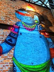 Grafite - ndio (Jos Argemiro) Tags: wall de graffiti restaurant interior indian restaurante inner roadside aparecida parede grafite dutra ndio rio janeiro paulo estrada so beira