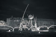 Constructores del fuego (Santiago Ramos N) Tags: longexposure white abstract black byn blanco argentina night fire monocromo noche nikon y negro 1855 abstracto coronel suarez largaexposicion constructores nikond5300