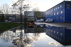 Large puddle (Pascal Volk) Tags: reflection berlin 35mm puddle wideangle wa ww reflexion spiegelung superwideangle sww industrialarea gewerbegebiet uwa weitwinkel swa pftze berlinlichtenberg ultrawideangle uww ultraweitwinkel superweitwinkel canonef1635mmf4lisusm siegfriedstrase canoneos6d berlineastside herzbergstrase