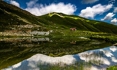 Missing Dilemma (BeNowMeHere) Tags: trip travel sky france mountains alps reflection nature colors clouds missing colours mountainlake dilemma 500px ifttt benowmehere missingdilemma